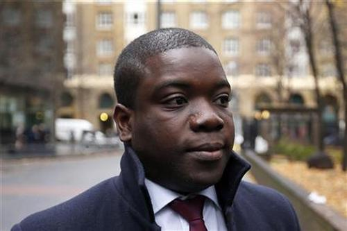 Former UBS trader Kweko Adoboli at Southwark Crown Court in London. He is jailed for seven years for the fraud.