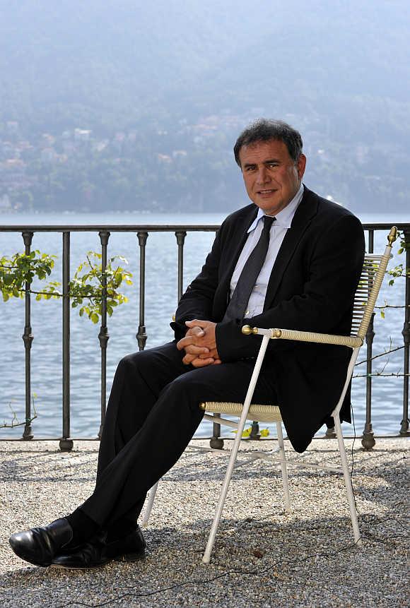 Nouriel Roubini in Cernobbio, next to Como, Italy.