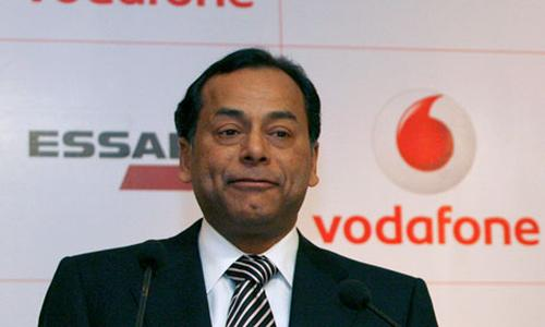 Essar's vice chairman Ravi Ruia at a news conference