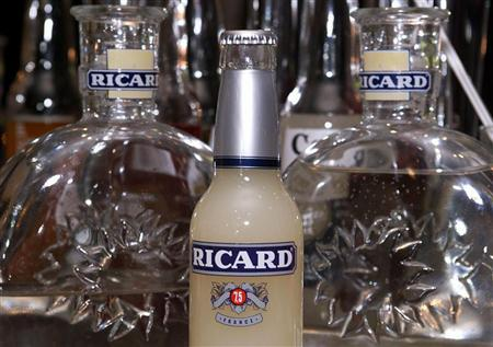 Thi file photo shows a bottle of ''ready-to-drink'' pastis, the famous French anise-flavoured aperitif, seen at a bar in Toulouse.