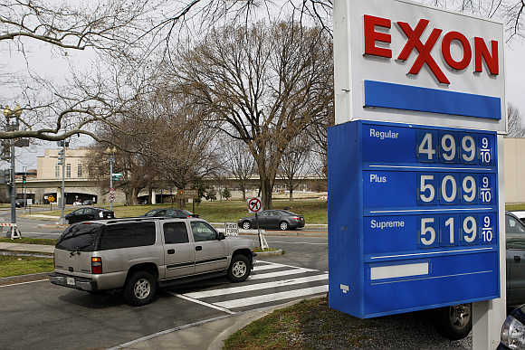 An Exxon petrol station in Washington.