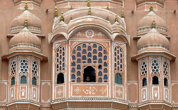 A view of Hawa Mahal, also known as Palace of Winds, in Jaipur.