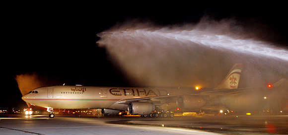 Etihad Airways plane.