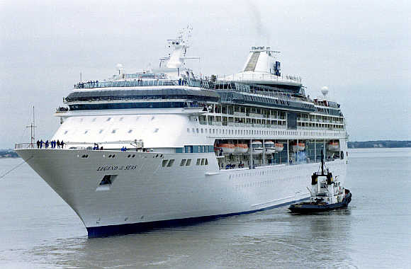 Ocean liner 'Legend of the Seas' is owned by the Norvegian company Royal Carribean Cruise Line.