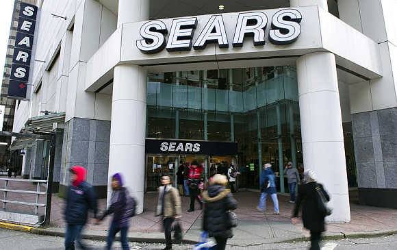 The main Sears store in downtown Vancouver, British Columbia.