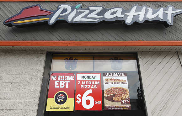 A Pizza Hut in Burbank, California.