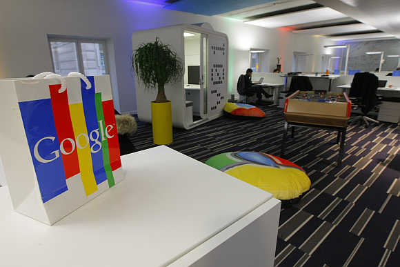 Google headquarters in Paris.