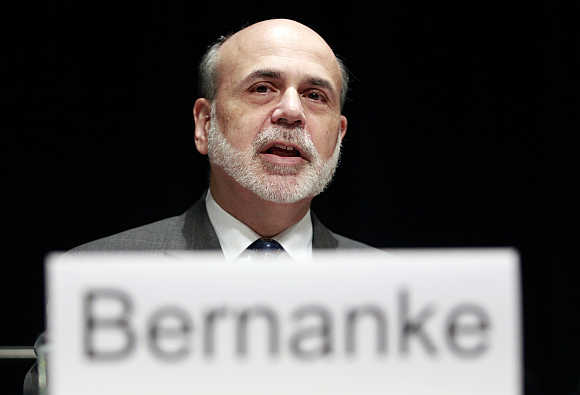 US Federal Reserve Chairman Ben S Bernanke.