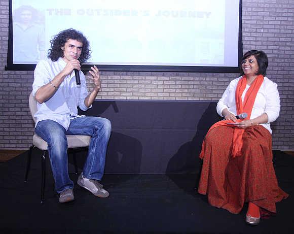 Imtiaz Ali with scriptwriter Anuraadha Tewari.
