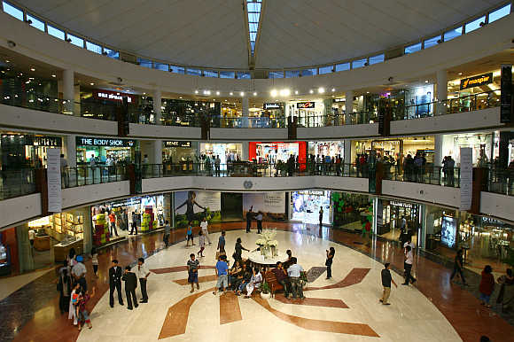A shopping mall in New Delhi.
