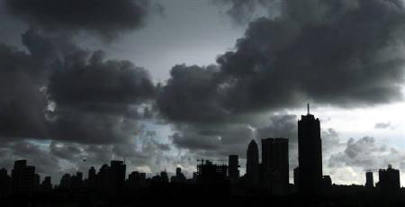 Clouds loom over Mumbai's skyline
