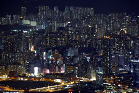 Public and private residential blocks in Hong Kong