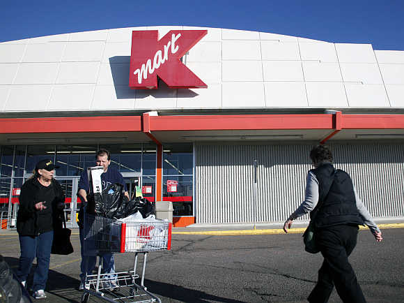 Shoppers outside the Kmart store in Broomfield, Colorado.