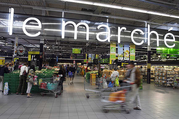 Carrefour Planet in Lyon, France.