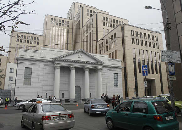 A Jewish Menorah Center in Dnipropetrovsk.