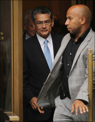 Rajat Gupta coming out of the court after the sentencing.