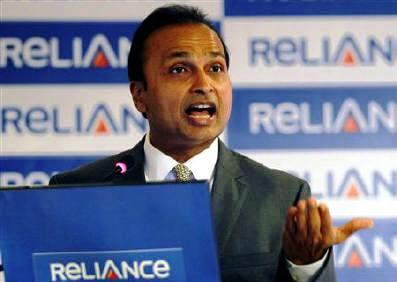 This file photo shows Anil Ambani speaking during a news conference in Mumbai.