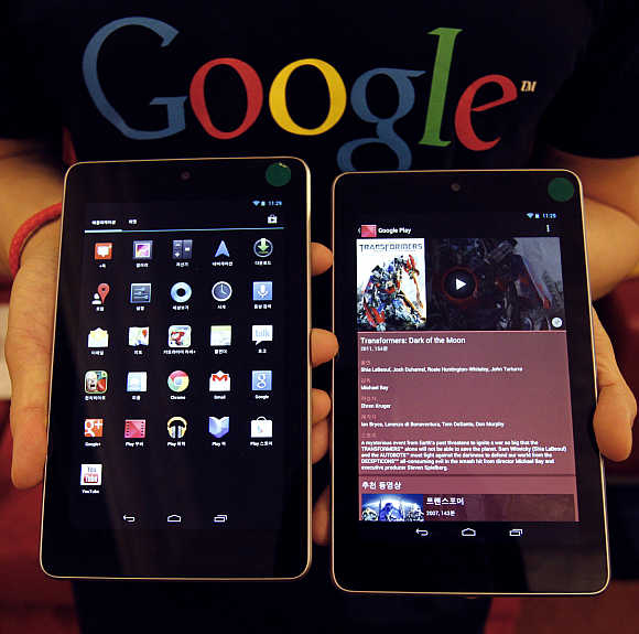 Nexus 7 is Google's first tablet that comes with a powerful NVIDIA 1.5GHz Quad-Core processor.