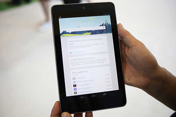 Asus-built, rubber-backed Nexus 7 is a classy product to hold, too.