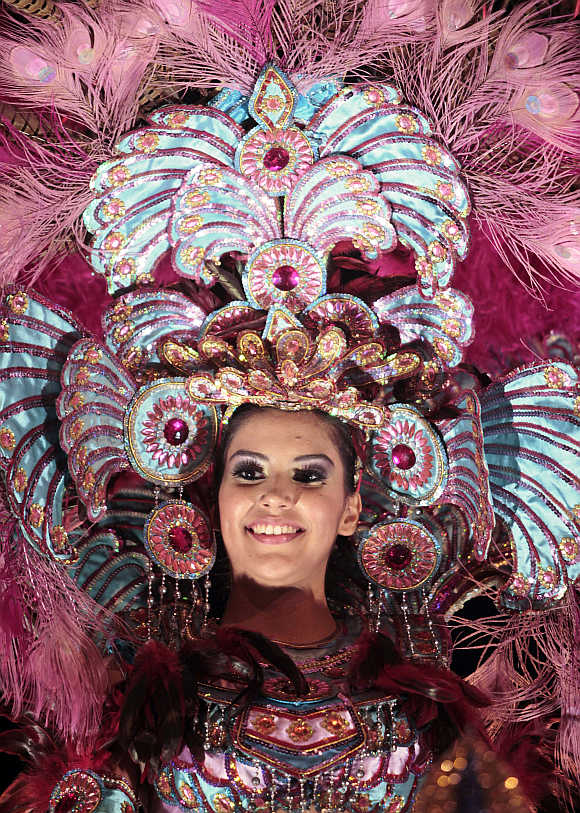A reveller takes part in the annual 'Alegria por la Vida 2012' in Managua, Nicaragua.