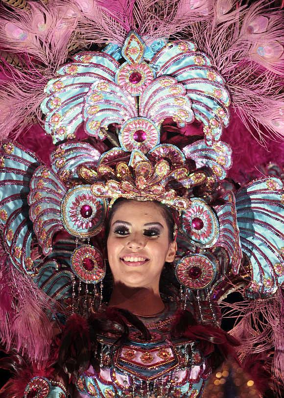 A reveller takes part in the annual 'Alegria por la Vida 2012' in Managua, Nicaragua.