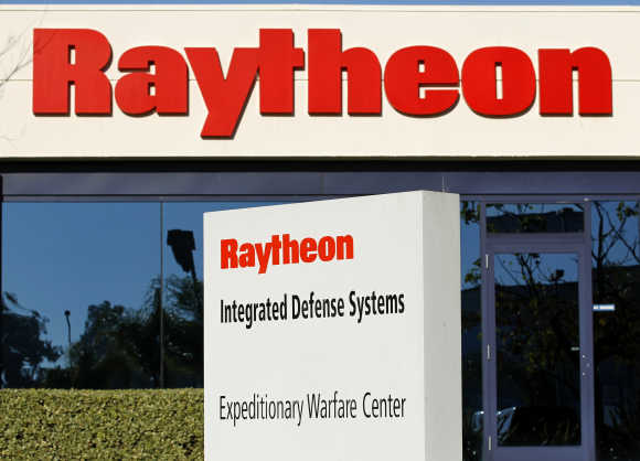 One of Raytheon's Integrated Defence buildings is seen in San Diego, United States.