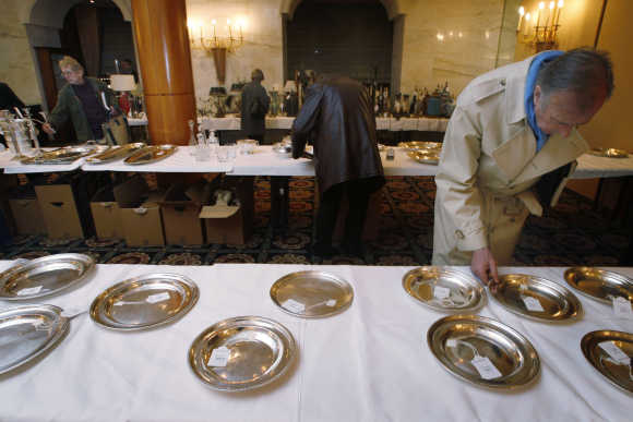 A man views silverware at the Savoy Hotel in central London. Photo is for representation purpose only.