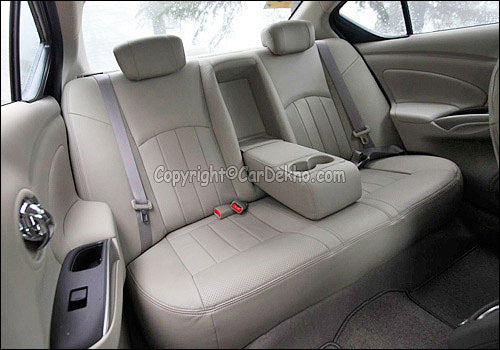 Rear seats of Scala.