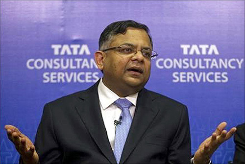N Chandrasekaran CEO of Tata Consultancy Services.