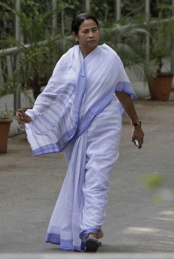 Mamata Banerjee in New Delhi.