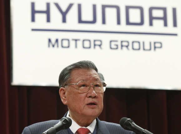 Hyundai Motor Chairman Chung in Seoul.
