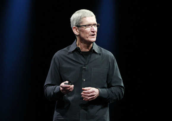 Apple CEO Tim Cook in San Francisco.