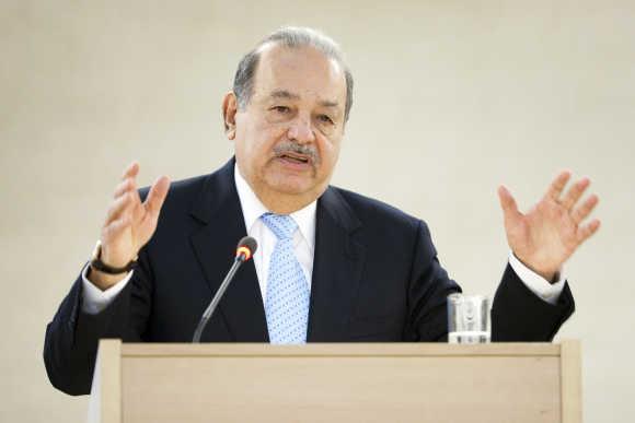 Carlos Slim Helu in Geneva.