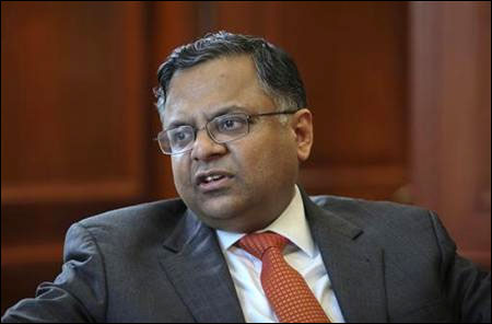 TCS CEO N. Chandrasekaran.
