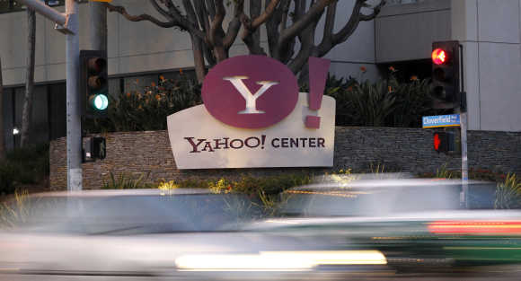 Yahoo office in Santa Monica, California.