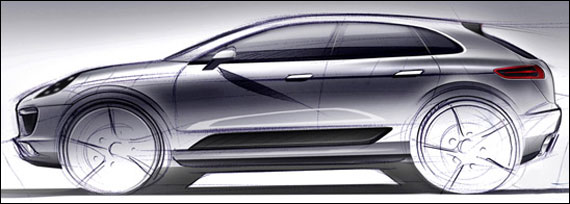 Porsche Macan official sketch.