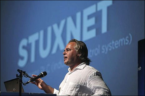 Eugene Kaspersky, chairman and CEO of Kaspersky Labs, speaks at a Tel Aviv University cyber security conference.