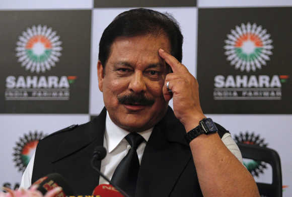 Sahara group chief Subrata Roy.