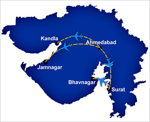 The route map.
