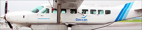 Deccan Shuttles flight.