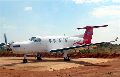 Deccan Shuttles charter flight.
