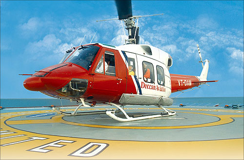 Deccam Aviation helicopter.