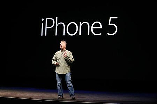 Apple's Senior Vice President of Worldwide Marketing, Phil Schiller, speaks during Apple Inc.'s iPhone 5 media event in San Francisco, California.