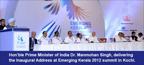 Prime Minister Manmohan Singh at the Emerging Kerala Summit.