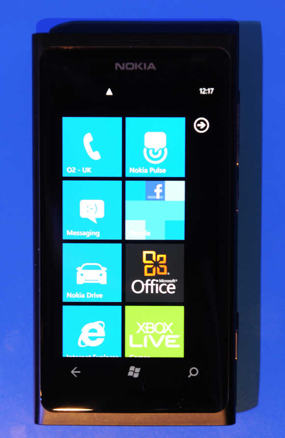 Nokia Lumia 800 smartphone in London.