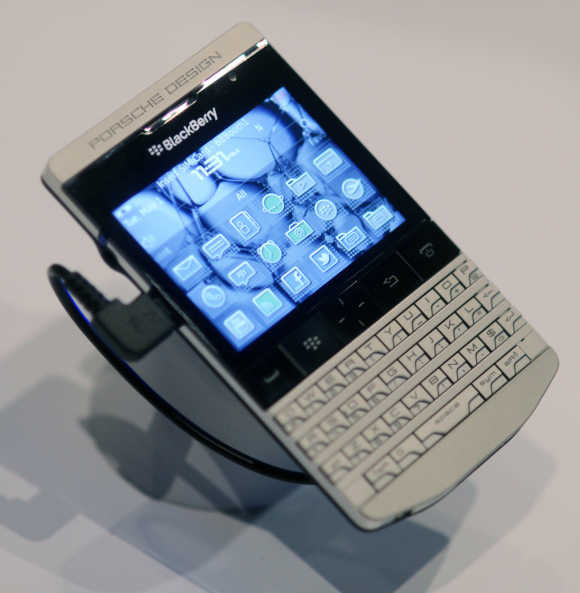 Porsche designed Blackberry in Orlando, Florida.