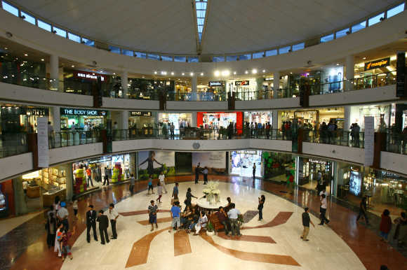 A mall in New Delhi.