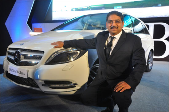Debashis Mitra, Director Sales and Marketing, Mercedes-Benz India at the launch of India's first Sports Tourer B Class.