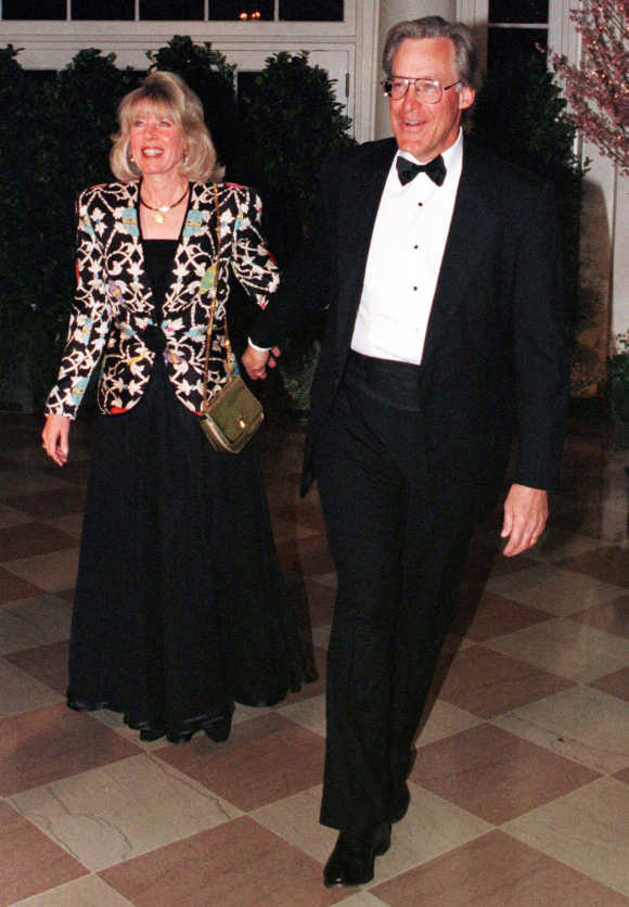 Sam Robson Walton with his wife Carolyn.