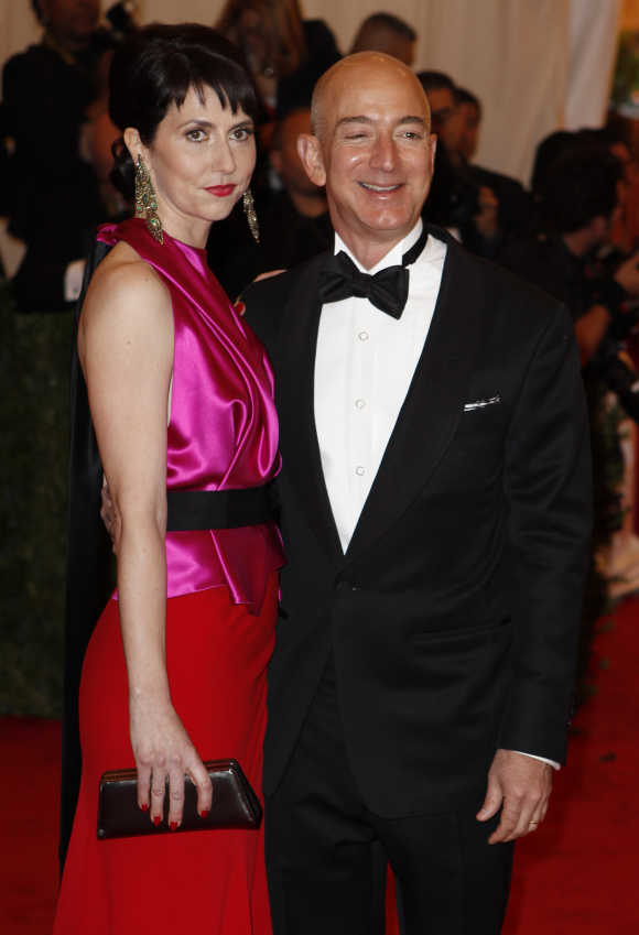 Jeff Bezos with his wife Mackenzie.